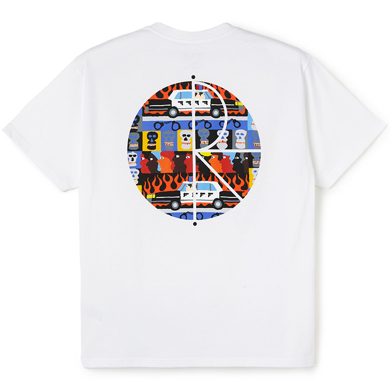 Polar ACAB Fill Logo T-Shirt White