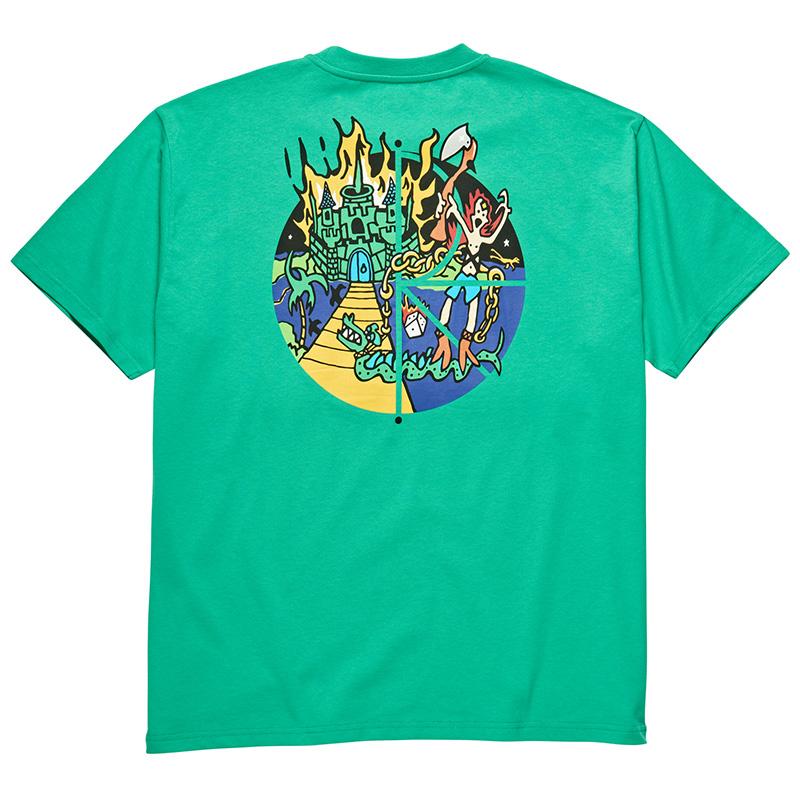 Polar Castle Fill Logo T-Shirt Green
