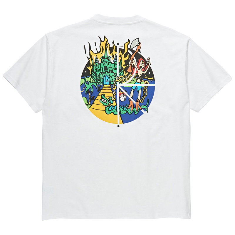 Polar Castle Fill Logo T-Shirt White