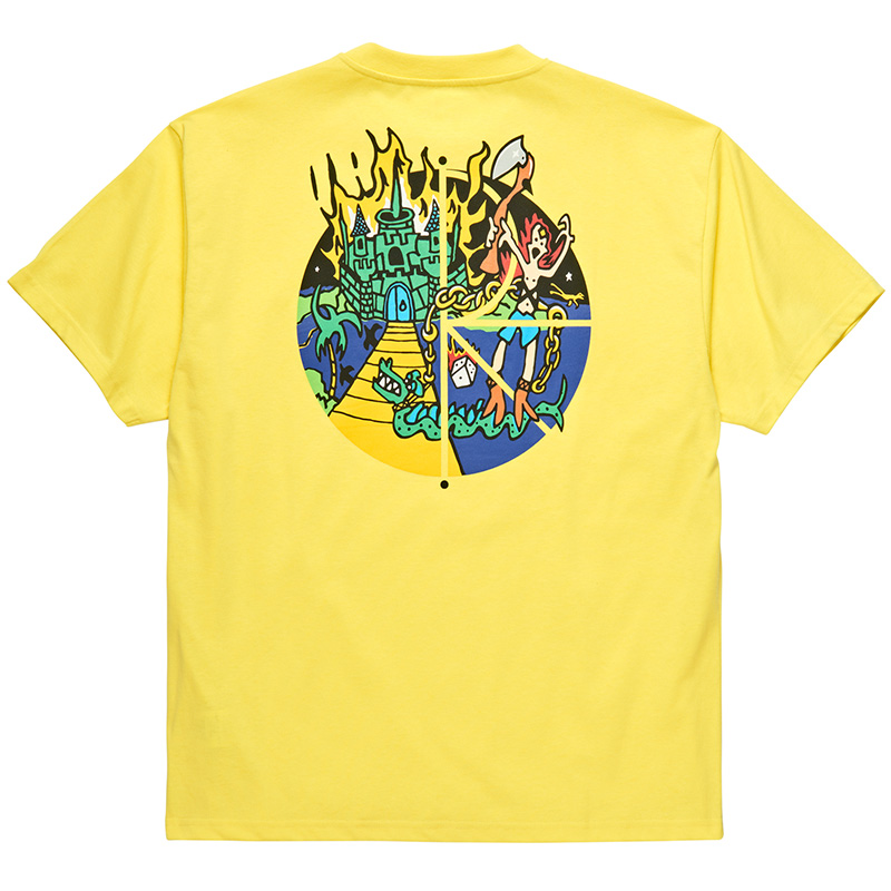 Polar Castle Fill Logo T-Shirt Yellow