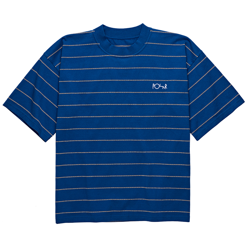 Polar Checkered Surf T-Shirt Blue