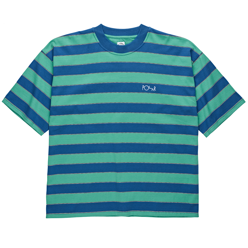 Polar Checkered Surf T-Shirt Blue/Peppermint