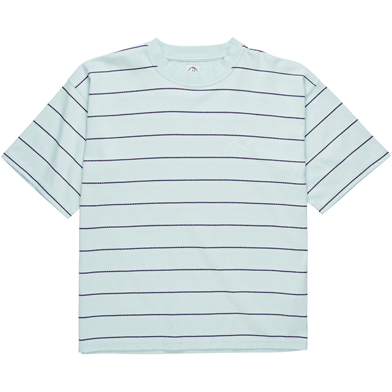 Polar Checkered Surf T-Shirt Ice Blue