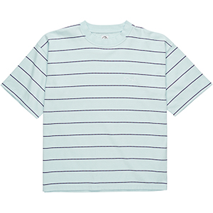 Polar Checkered Surf T-Shirt Ice Blue