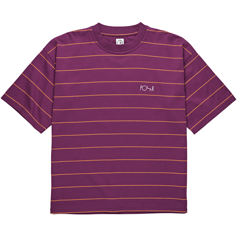 Polar Checkered Surf T-Shirt Wine Red