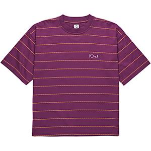 Polar Checkered Surf T-Shirt Wine Red