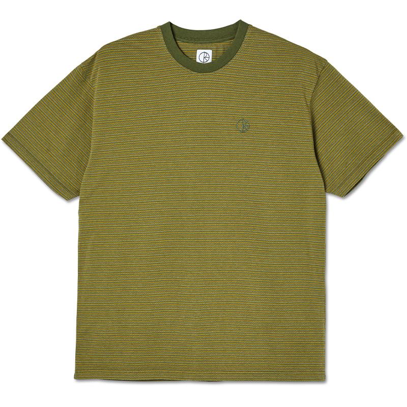 Polar Dizzy Stripe T-shirt Army Green