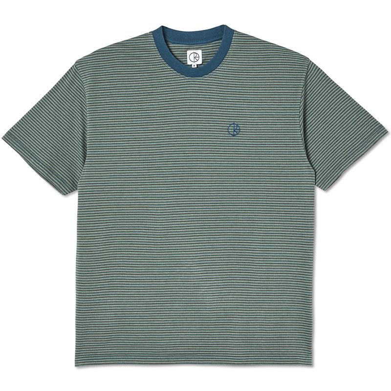 Polar Dizzy Stripe T-shirt Blue