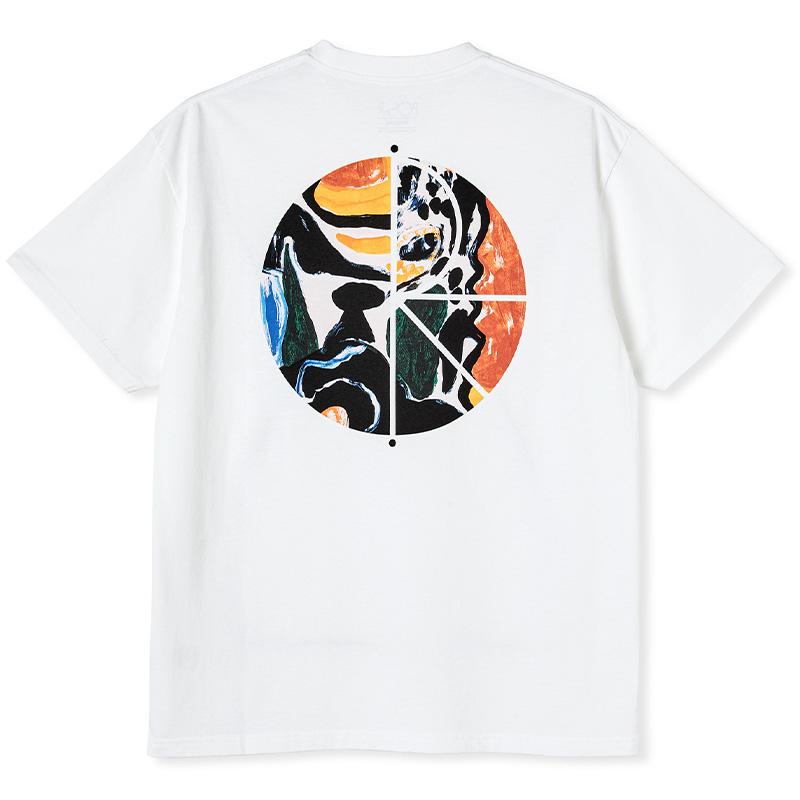 Polar Facescape Fill Logo T-shirt White