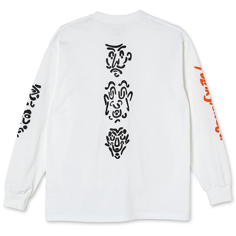 Polar Facescape Longsleeve T-Shirt White