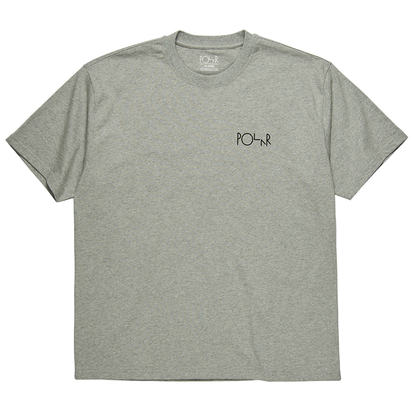 Polar Fill Logo T-Shirt Heather Grey/Black