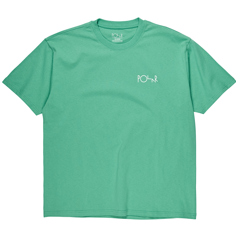 Polar Fill Logo T-Shirt Peppermint /Dark Green