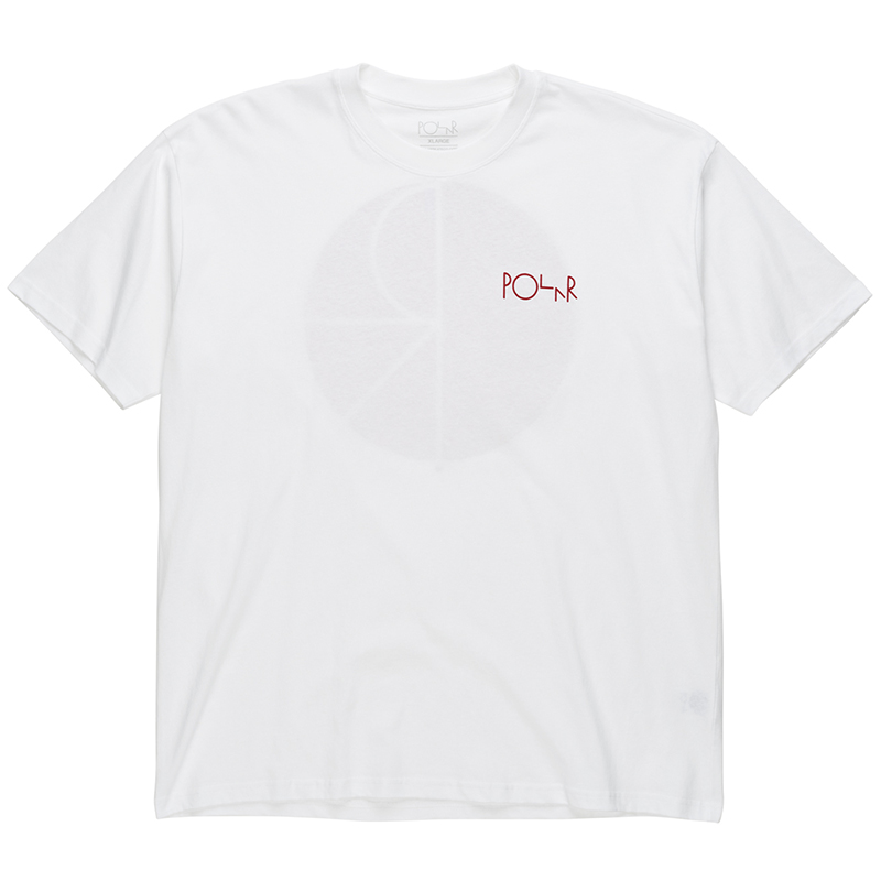 Polar Fill Logo T-shirt White/Red