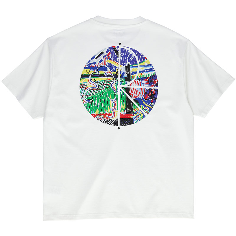 Polar Garden Fill Logo T-Shirt White