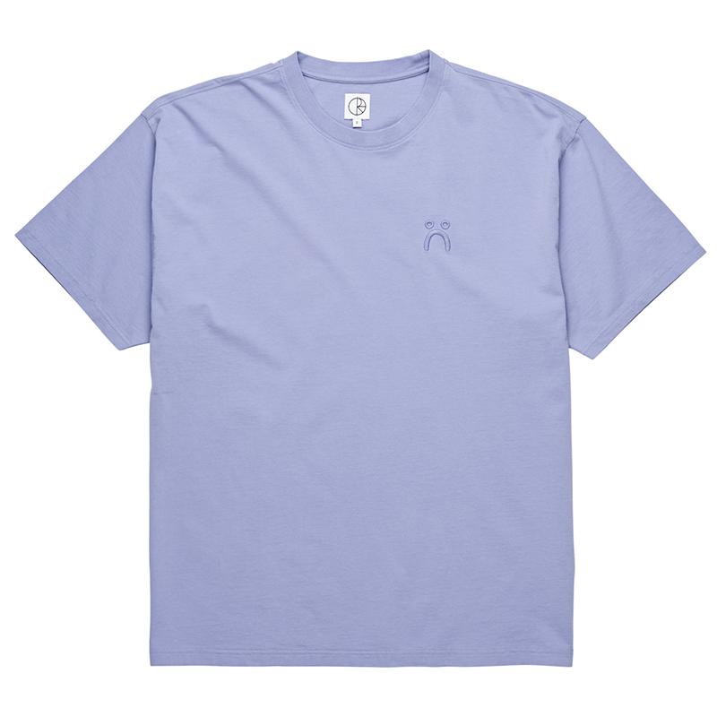 Polar Happy Sad Garment Dyed T-Shirt Washed Purple