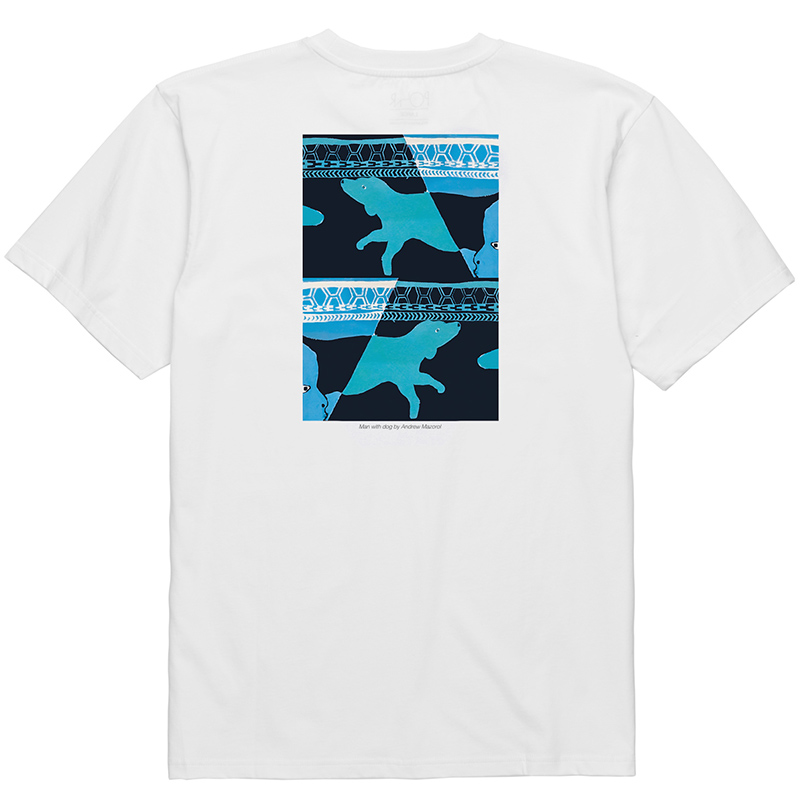Polar Man With Dog T-Shirt 1 White