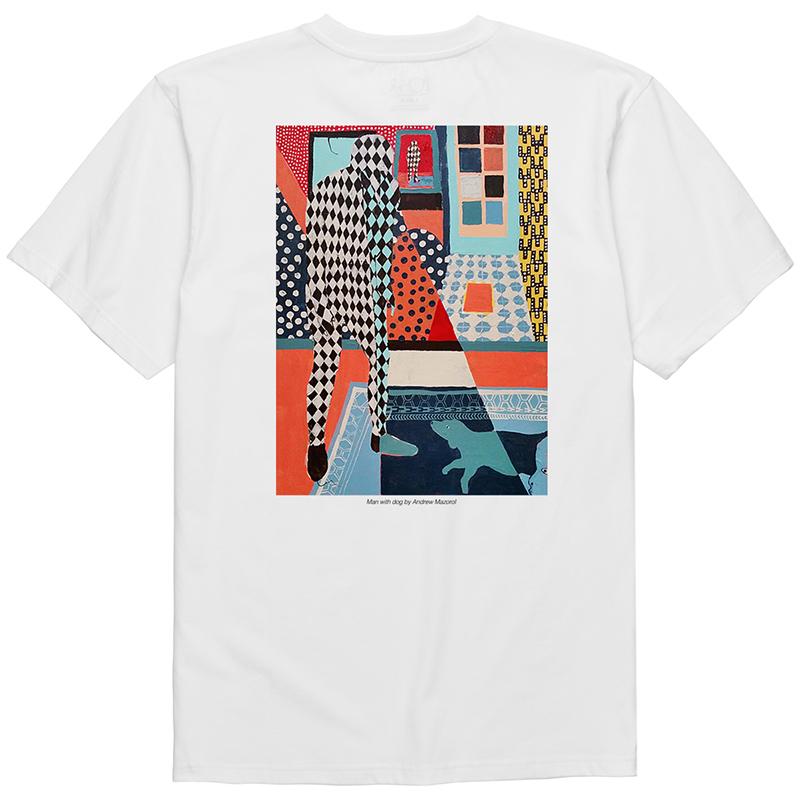 Polar Man With Dog T-Shirt 2 White