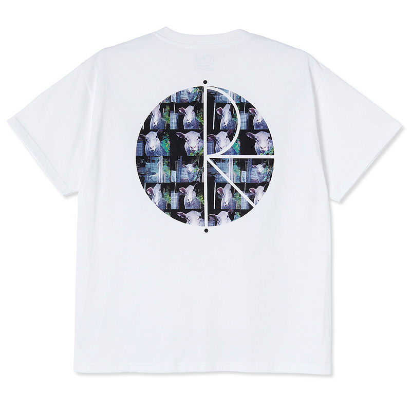 Polar Moving Sheep Fill Logo T-Shirt White