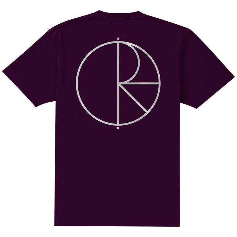 Polar Reflective Stroke Logo T-Shirt Dark Prun/Silver