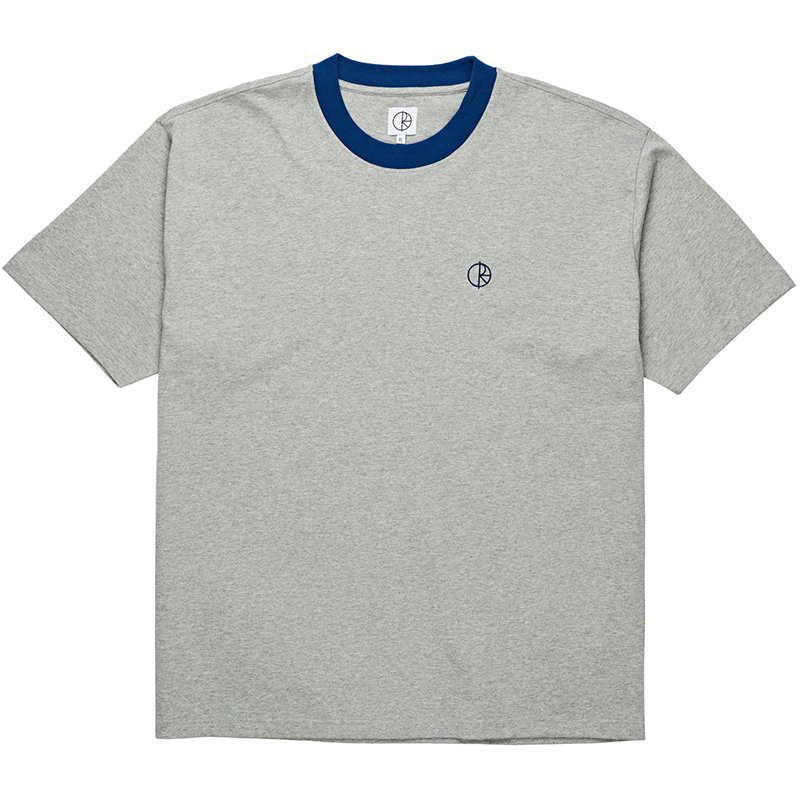 Polar Ringer T-Shirt Heather Grey/Navy