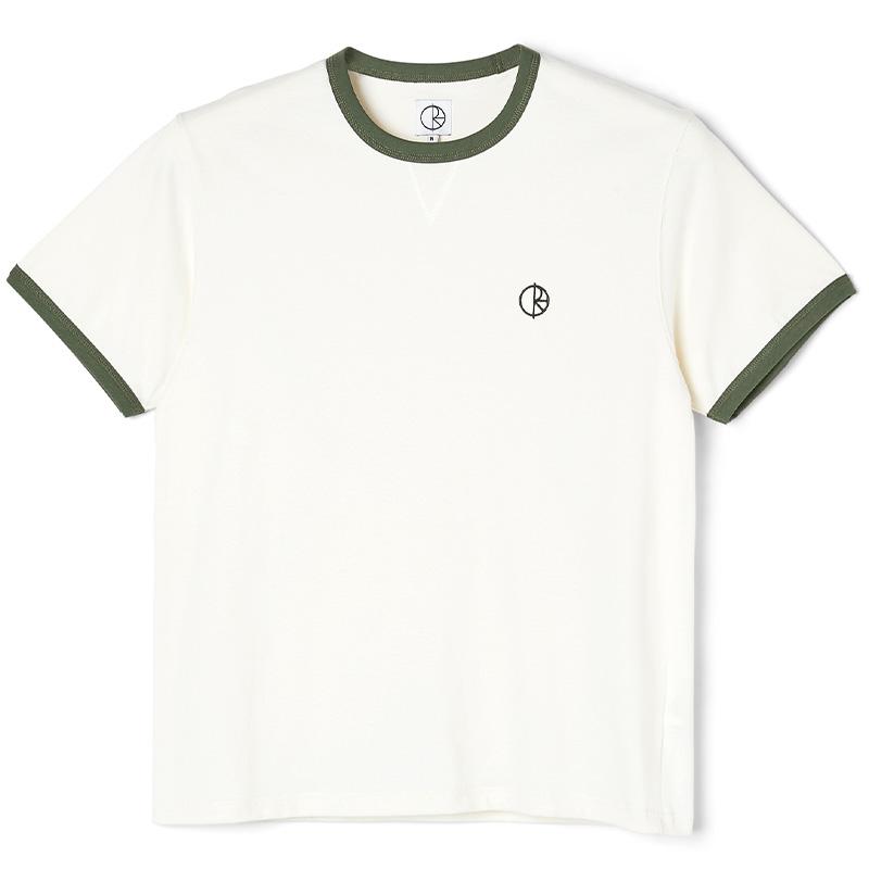 Polar Rios Ringer T-shirt Cloud White/Khaki