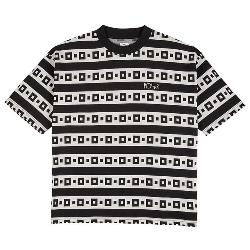 Polar Square Stripe Surf T-Shirt Black