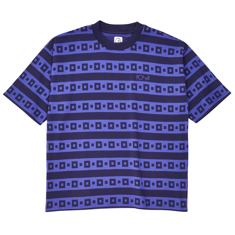 Polar Square Stripe Surf T-Shirt Navy/Purple