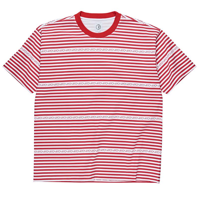 Polar Stripe Logo T-Shirt Red