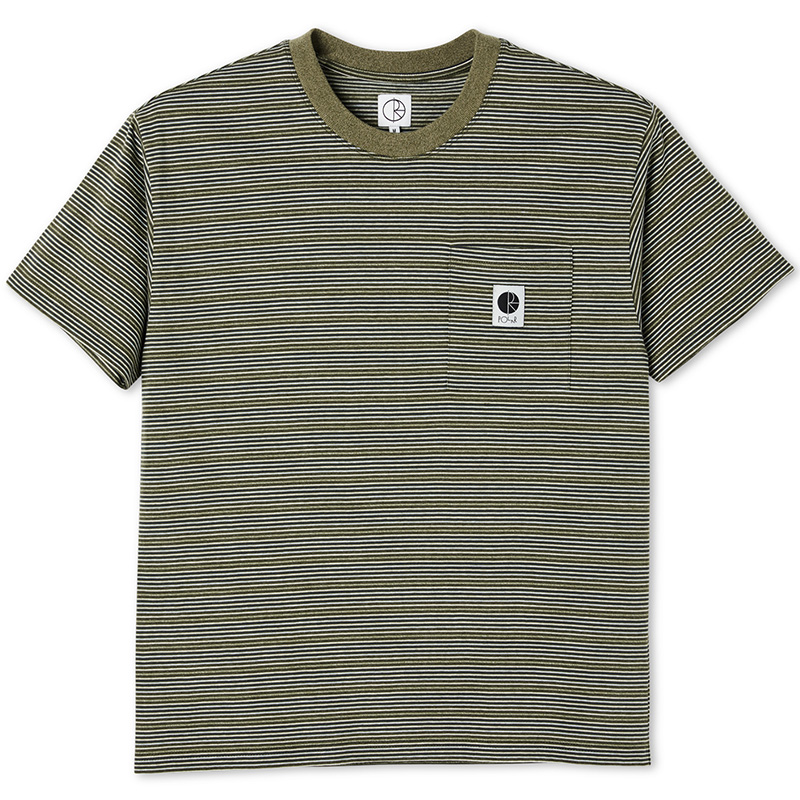 Polar Stripe Pocket T-Shirt Army Green