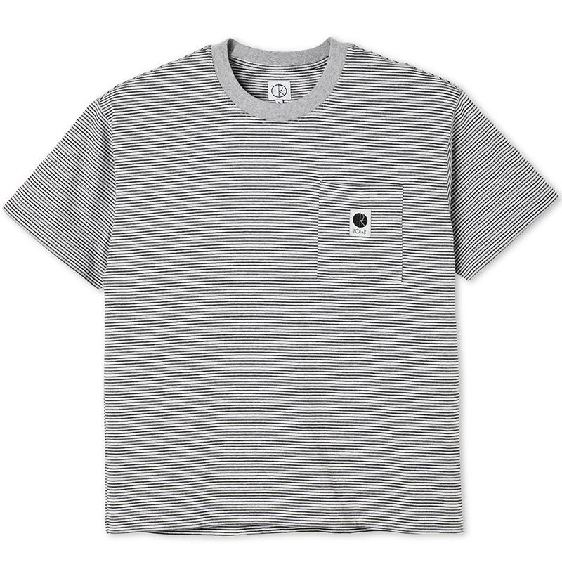 Polar Stripe Pocket T-Shirt Grey