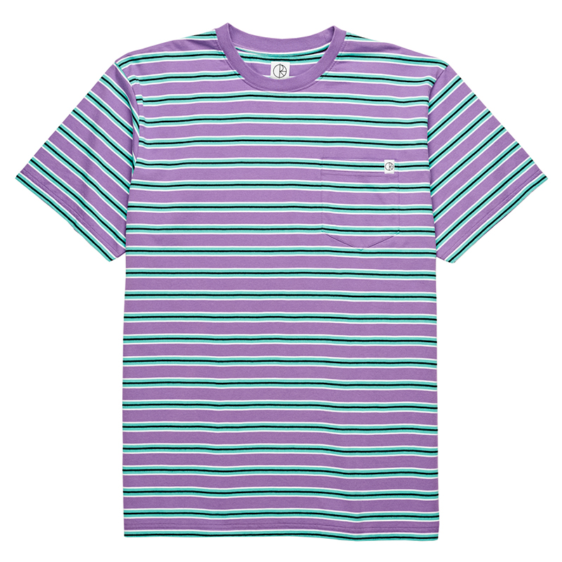 Polar Striped Pocket T-Shirt Voilet/Mint