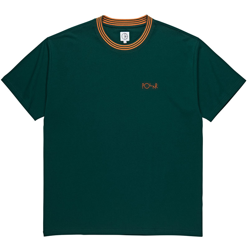 Polar Striped Rib T-Shirt Dark Green