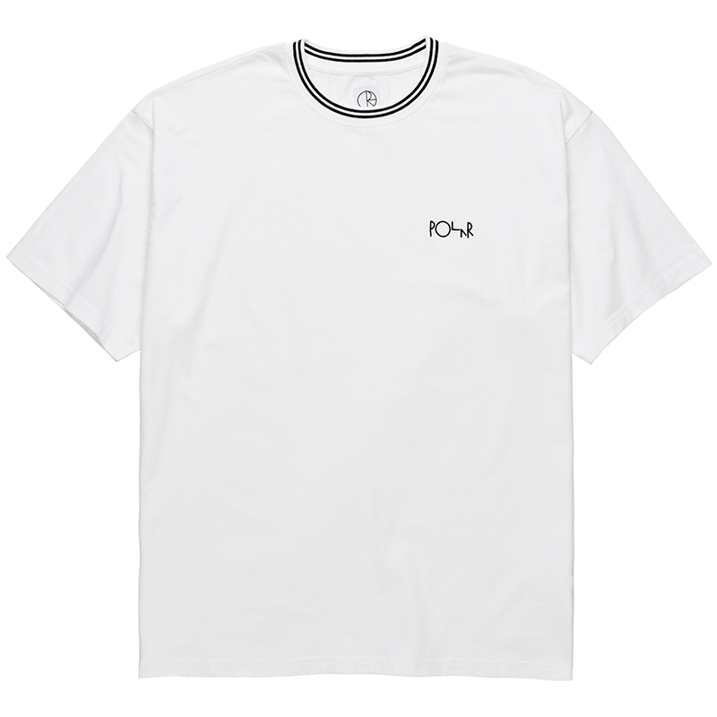 Polar Striped Rib T-Shirt White