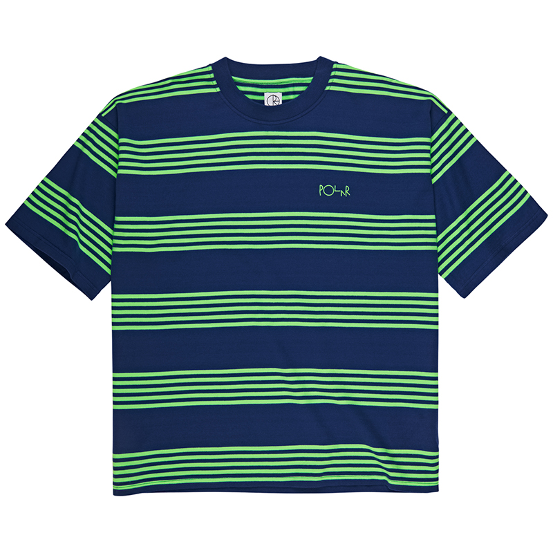 Polar Striped Surf T-Shirt Dark Blue/Gecko Green