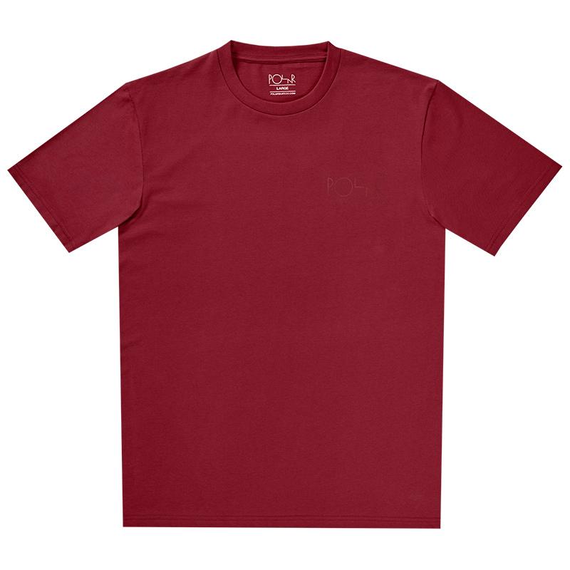 Polar Stroke Logo T-Shirt Burgundy