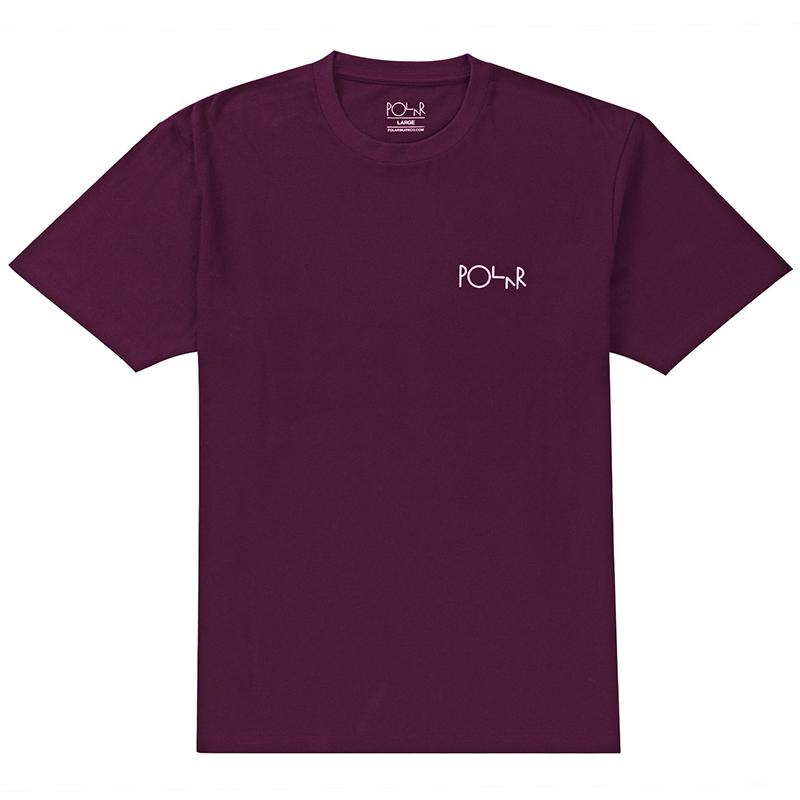 Polar Stroke Logo T-Shirt Deep Purple