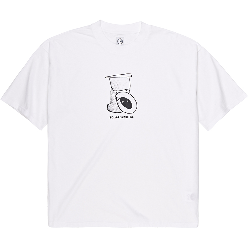 Polar Toilet Surf T-Shirt White