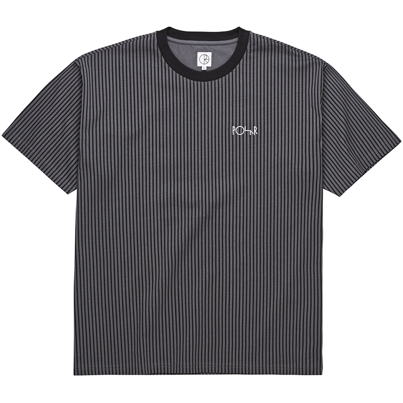 Polar Vectical Stripe T-Shirt Black