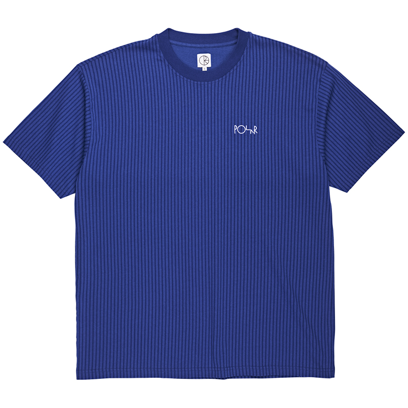 Polar Vectical Stripe T-Shirt Dark Blue