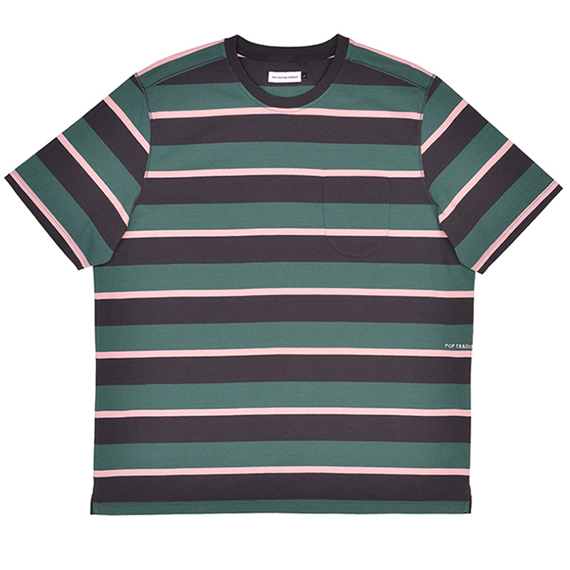 Pop Trading Company Striped Pocket T-Shirt Multicolor
