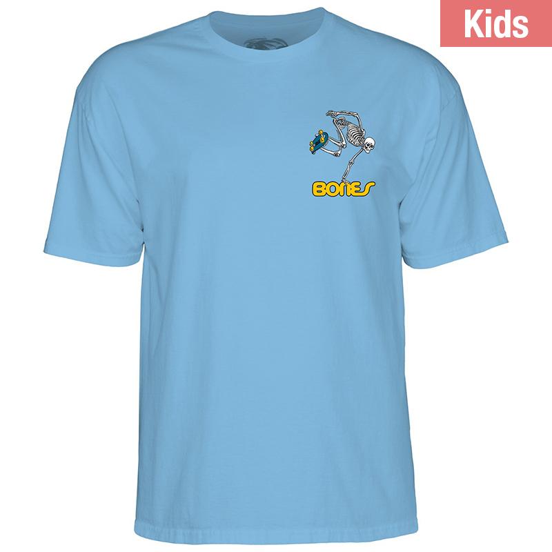 Powell Peralta Kids Skateboard Skeleton Carolina Blue