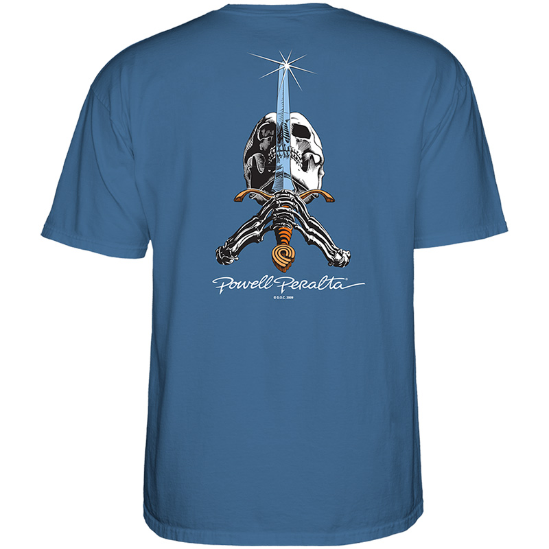 Powell-Peralta Skull & Sword T-Shirt Slate Blue