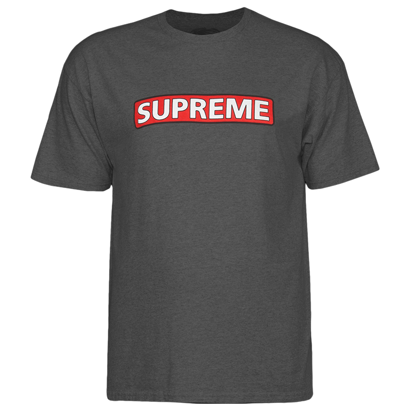 Powell Peralta Supreme T-Shirt Charcoal Heather