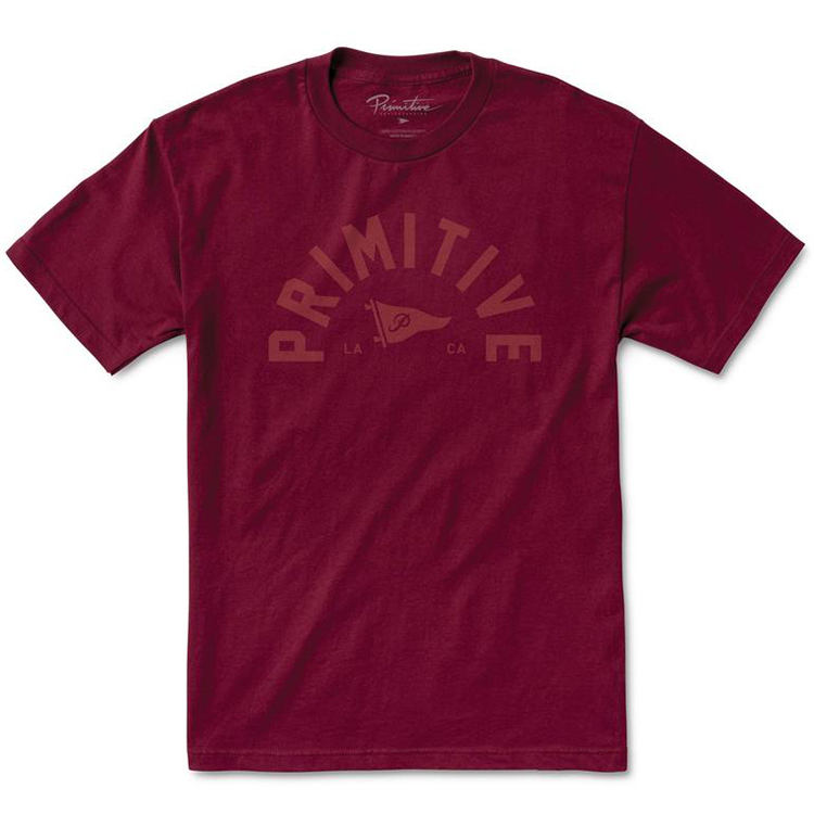 Primitive Big Arch Pennant T-Shirt Burgundy