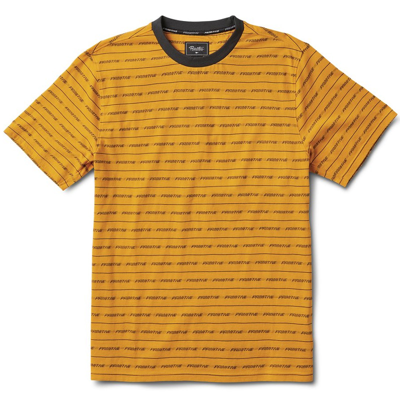 Primitive Boyle Crewneck T-Shirt Gold