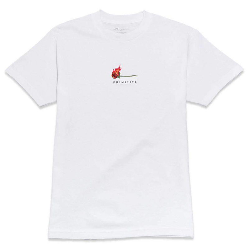 Primitive Burning T-Shirt White