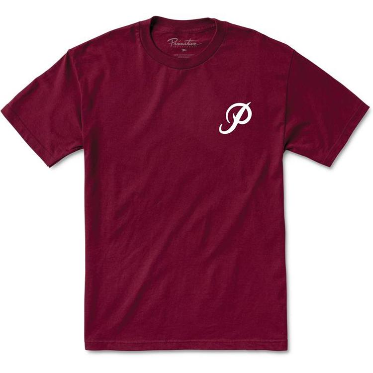 Primitive Classic P Core T-Shirt Burgundy