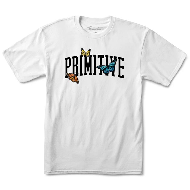 Primitive Collegiate Butterflies T-Shirt White