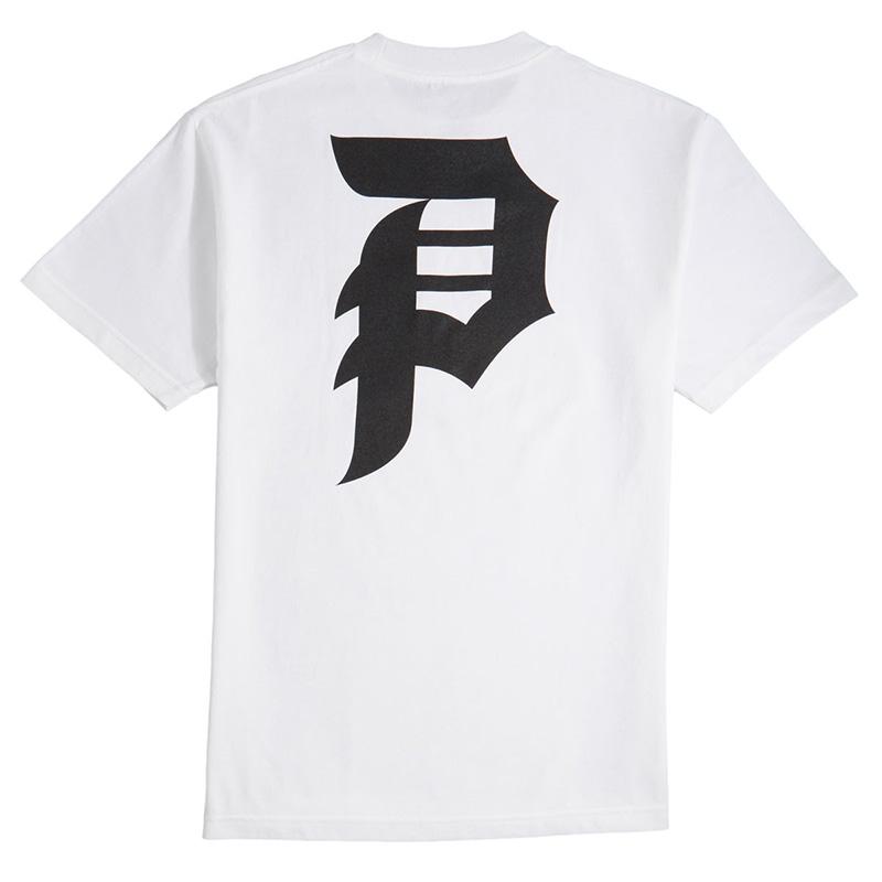 Primitive Dirty P Core T-Shirt White/Black Script