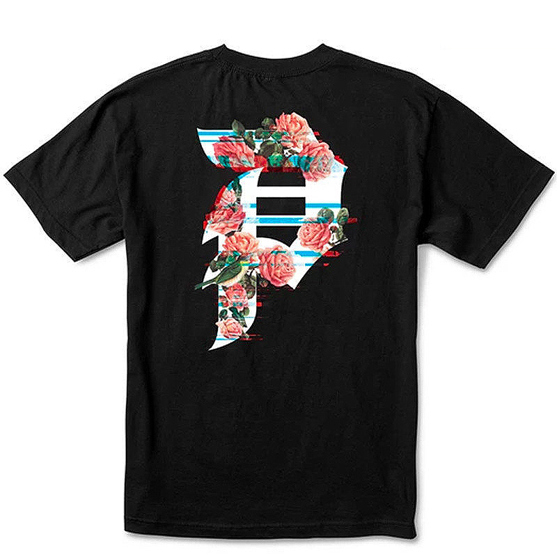 Primitive Dirty P Glitch Youth T-Shirt Black